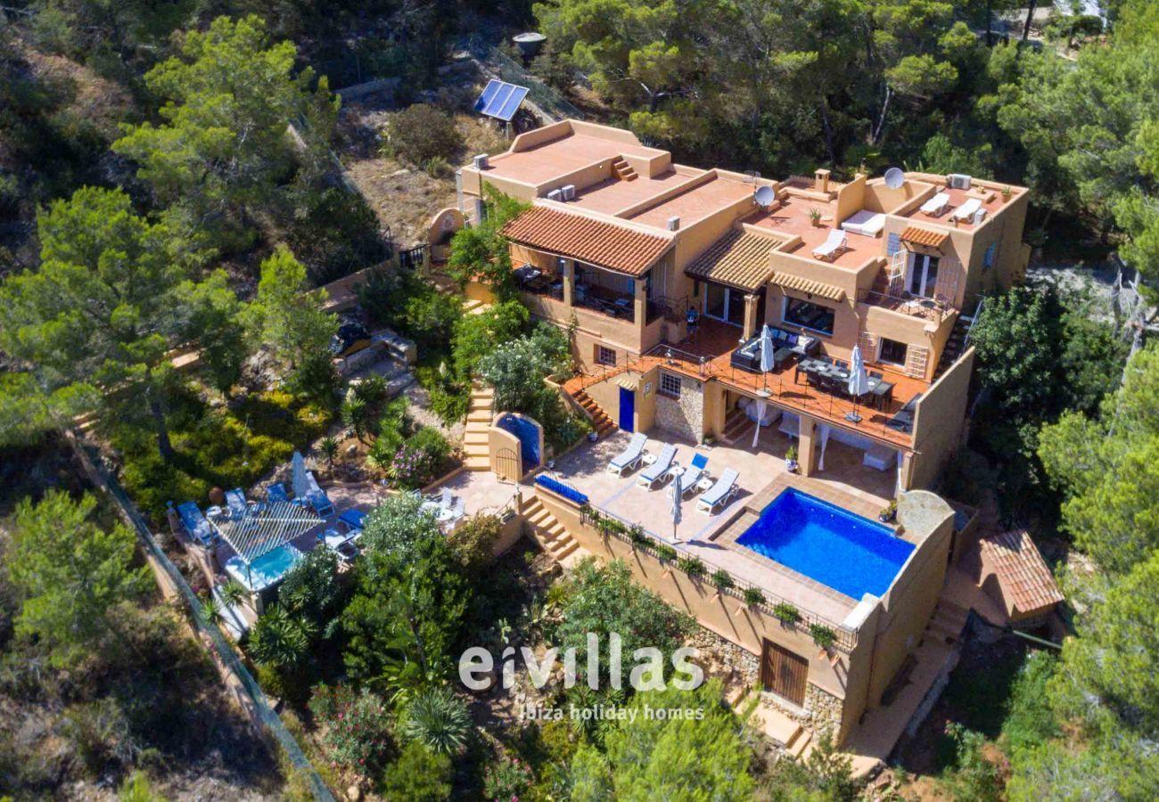 Luftaufnahme Casa Capricho Ibiza