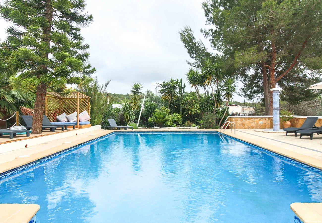 Pool von der Villa Cala Estrella auf Ibiza